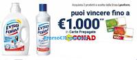 Logo Lysoform ''Tesoro di Casa: vinci carte prepagate Conad da 30€, 100€ e 1.000€