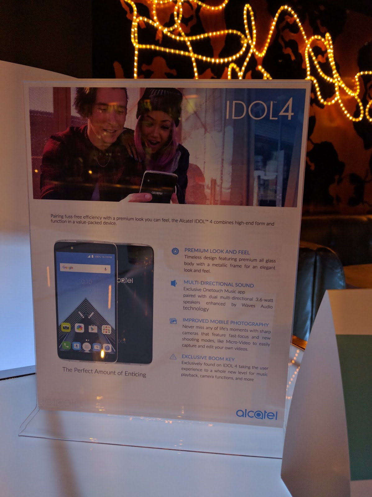 Martin parties with the new Alcatel Idol 4 ~ Android Coliseum