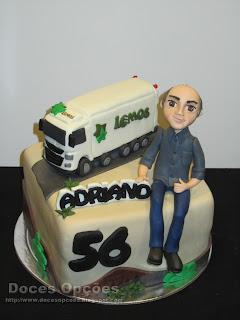 Bolo para o aniversário do Adriano