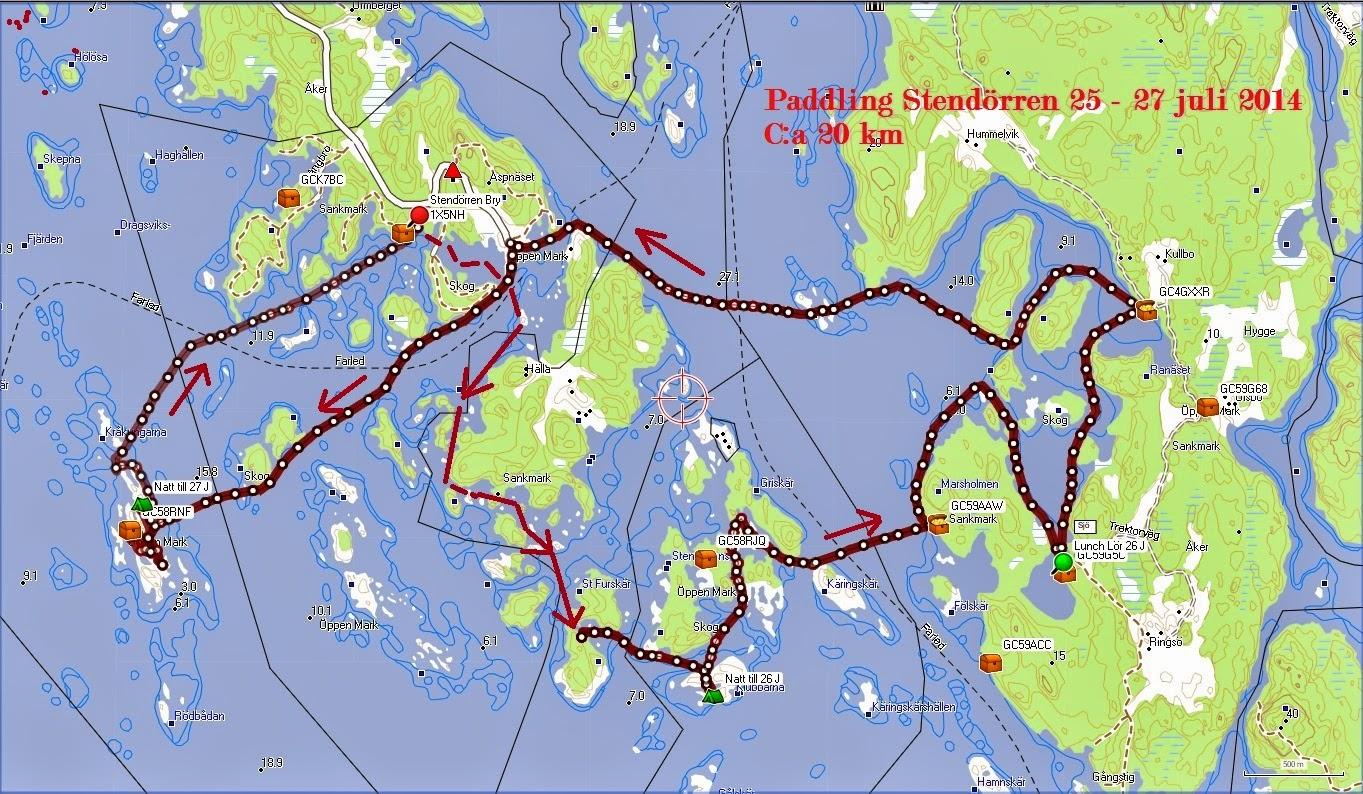 stendörren karta Pappa G: Helgpaddling i Stendörrenområdet stendörren karta