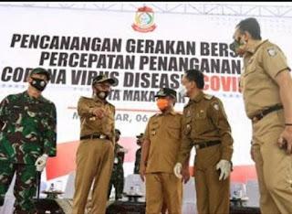 Perangi Covid-19, Pemkot Makassar Gencarkan Penyemprotan dan Rapid Test