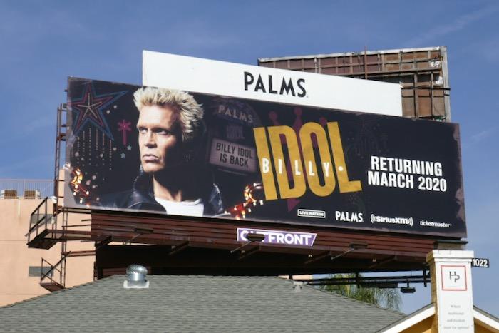 Billy Idol Pams Las Vegas billboard