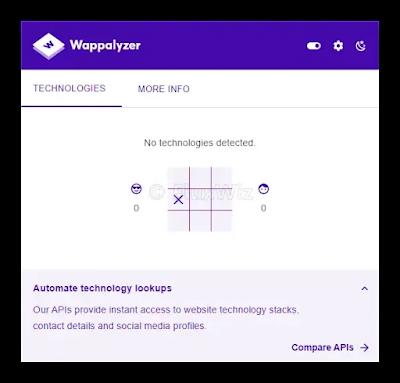 Site Scan by Wappalyzer