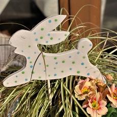 Pflanzenstecker Osterhase handgetöpfert