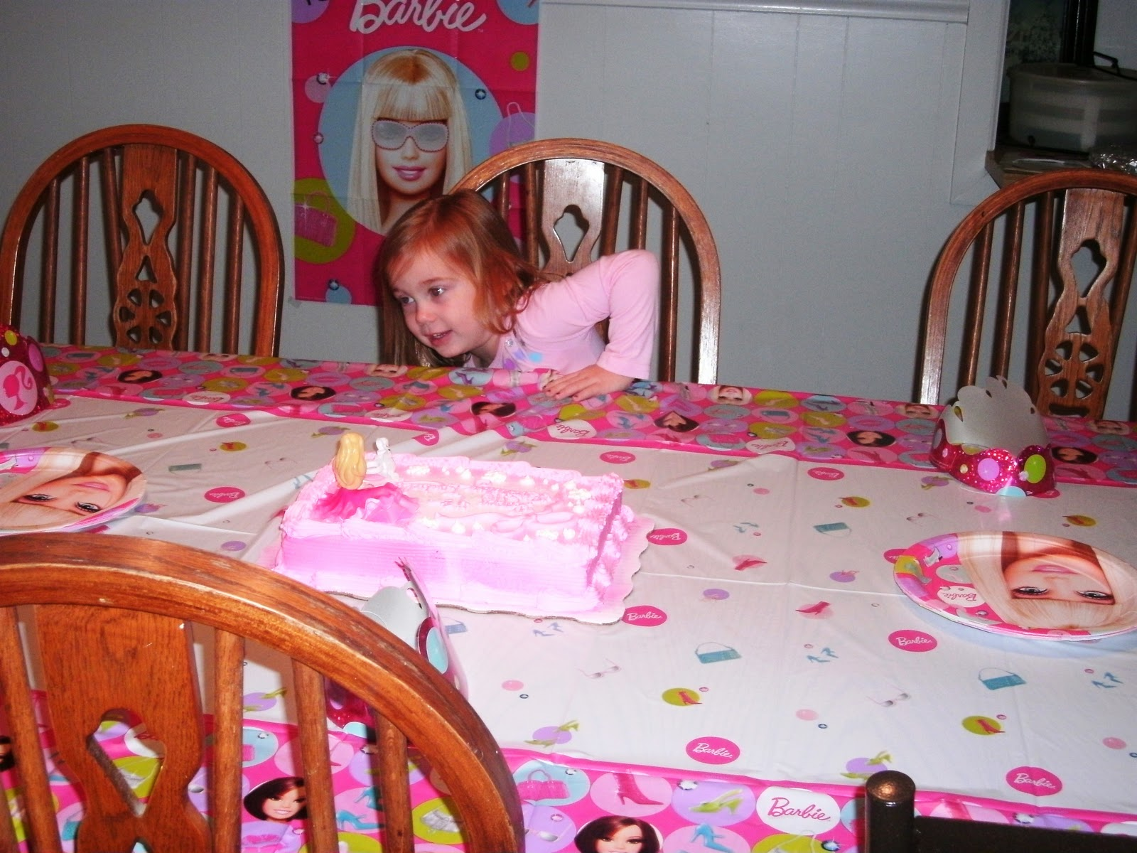 See Our Sweet Life A Fabulous Barbie Birthday Party For Four Year Old Ideas 5