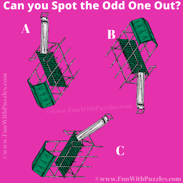 It is the slider picture riddle for kids in which your challenge is find the Odd One Out