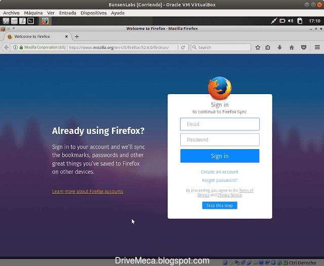 Firefox es el navegador internet default en nuestro OS