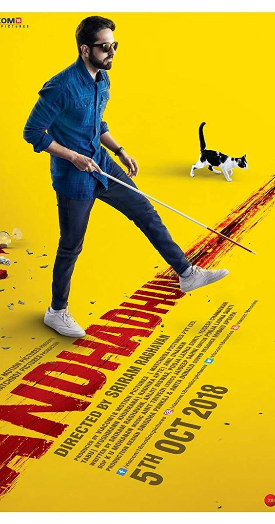 Rekomendasi Film Bollywood India terbaik Andhadhun