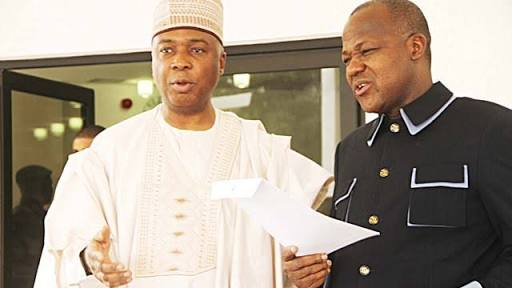 Saraki, Dogara, Others Protest Against Osun Election Outcome At INEC Headquarters