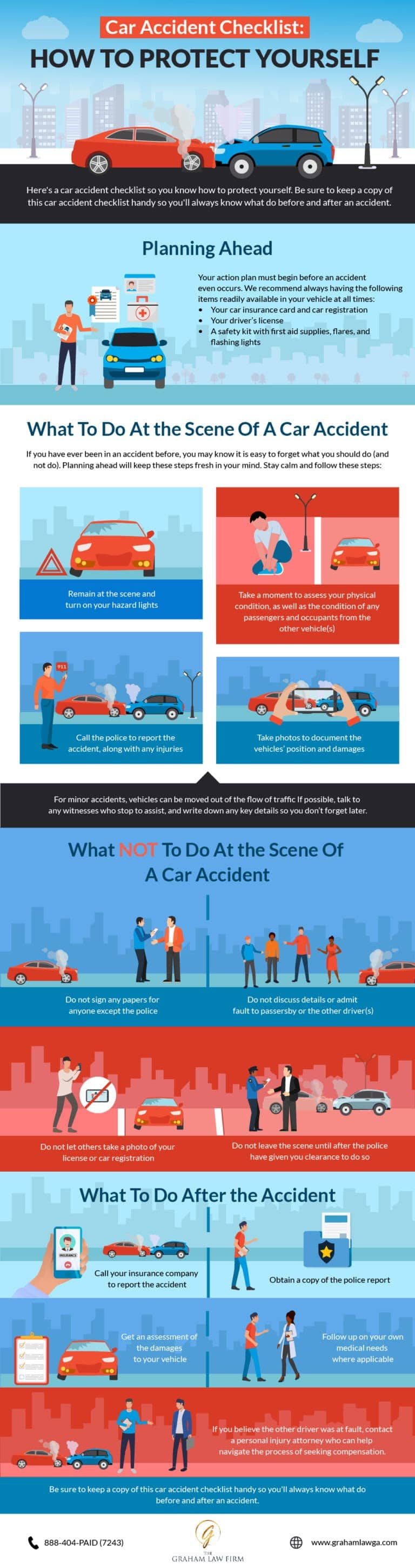 Car Accident Checklist: How to Protect Yourself #infographic