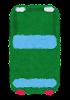 上から見た自動車のイラスト(緑)
