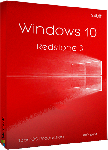 Windows 10 RS3 1709.16299.192 AIO poster box cover