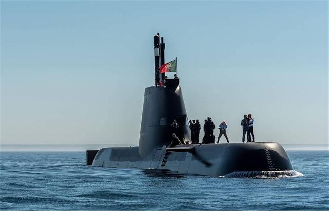Submarino de propulsión diésel / eléctrico NRP Tridente de la Armada portuguesa. (Fuente de la imagen Armada portuguesa)