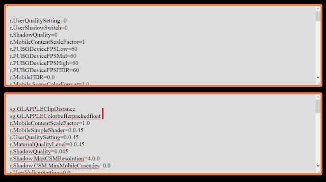GFX Tool vs Config iPhone