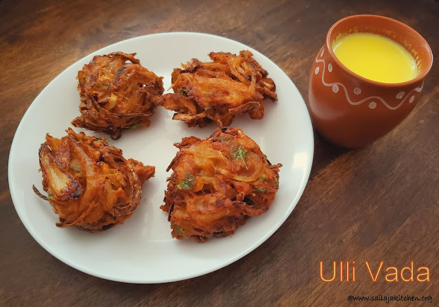 images of Ulli Vada / Kerala Ulli Vada / Onion Vada / Easy Ulli Vada Recipe / Kerala Onion Fritters - A Tea Time Snack