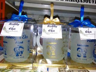 souvenir gelas pernikahan surabaya