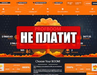 Скриншоты выплат с хайпа profboom.com