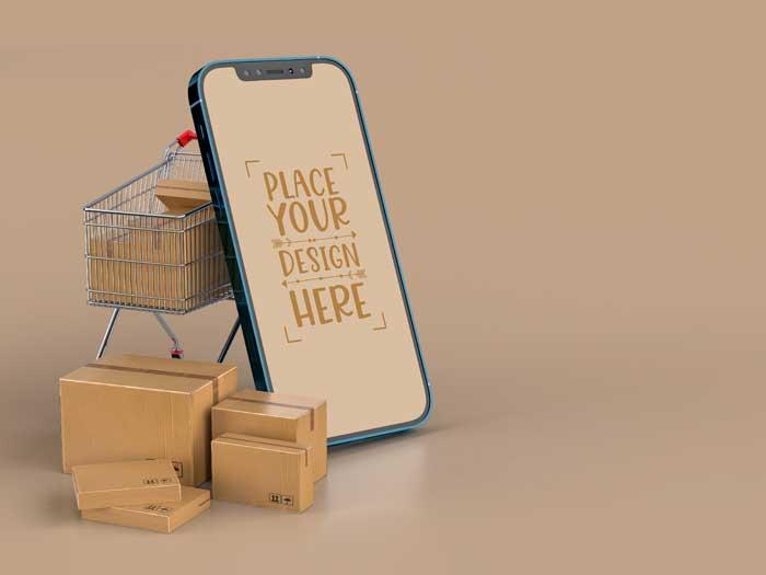 Online Delivery Smartphone Mockup