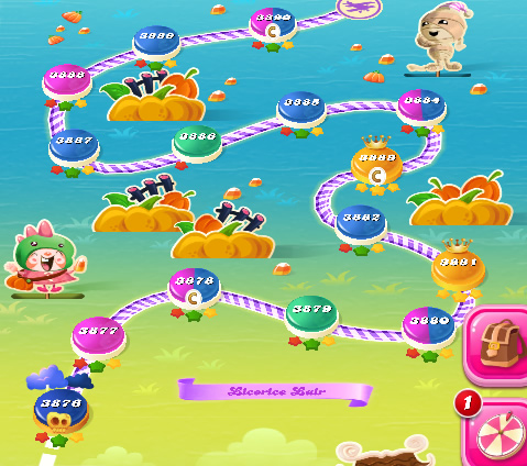Candy Crush Saga level 3876-3890