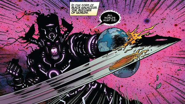 El simbionte All Black se unió a Galactus