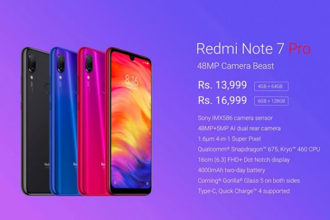 Redmi Note 7 Pro Exclusive to India and China only.