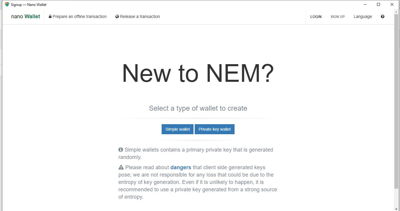 Cara Mudah Membuat Nem Address Wallet (XEM)