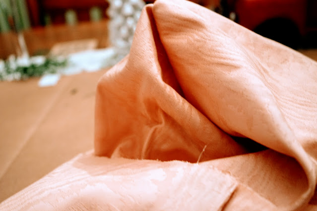 Turning fabric inside out for pillow cover