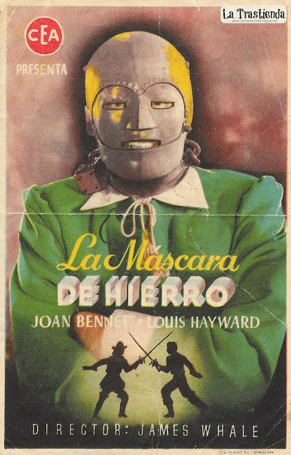 La Máscara de Hierro - Programa de Cine - Joan Bennett - Louis Hayward