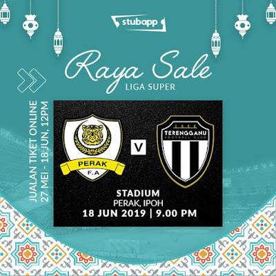 Perak vs Terengganu Live Liga Super 18.6.2019