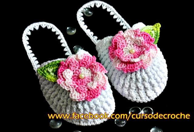Edinir Croche ensina chinelo chinelos de croche para canhotos e destros