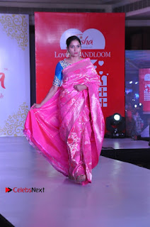 South Indian Celebrities Pos at Love For Handloom Collection Fashion Show  0120.jpg