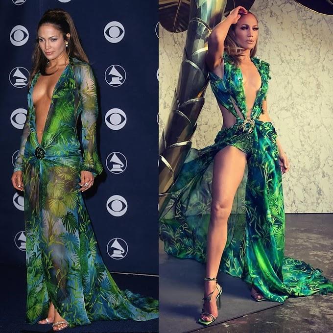 Watch Jennifer Lopez Shut It Down, As She Brings Back The Iconic Jungle Print Dress To Celebrate Versace's 20th Anniversary