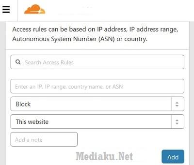 Menggunakan Firewall CloudFlare