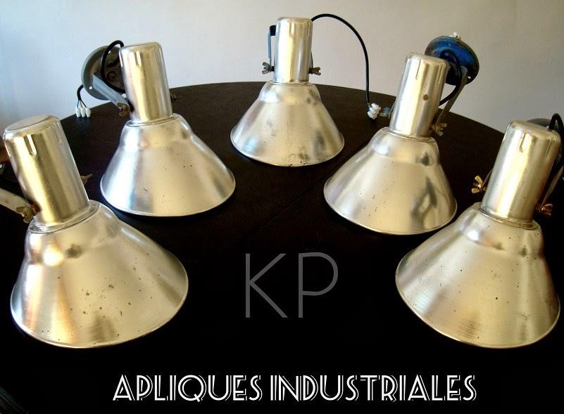 Focos industriales. Apliques vintage online