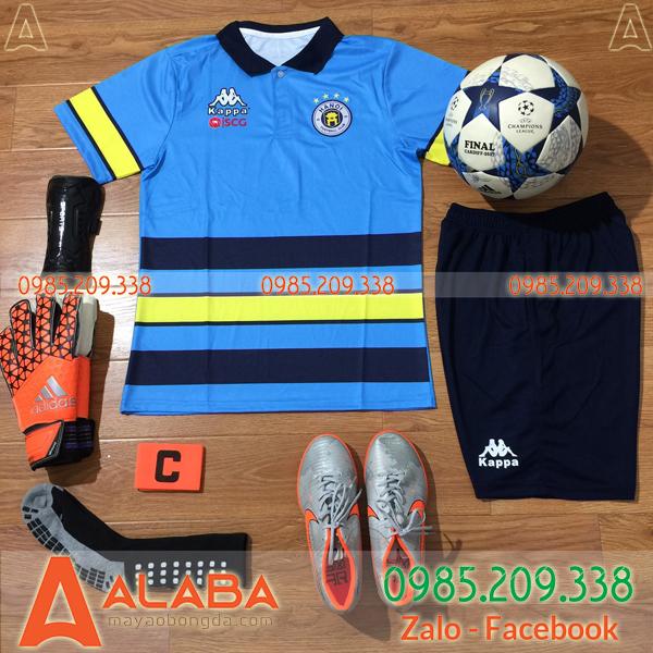 Áo di chuyển CLB Hà Nội 2019 màu xanh dương đậm 2019