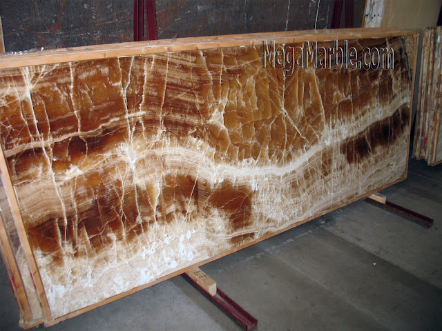 Caramello Onyx slabs for countertops