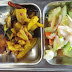 Machha Bhaja, Aloo Bhaja, Salad for Pakhala