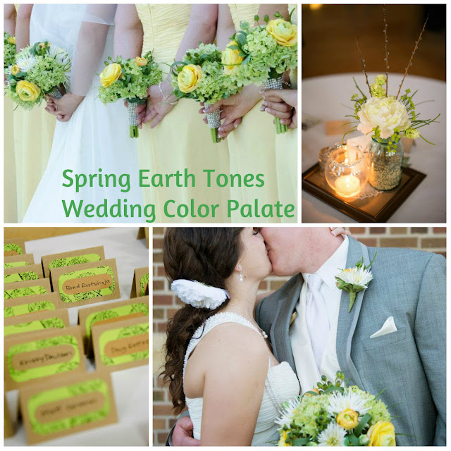 Spring Earth Tones For Wedding Color Theme