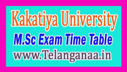 KU M.Sc (Computer Science) 3rd Sem. Exam Time Table 2016 Kakatiya University