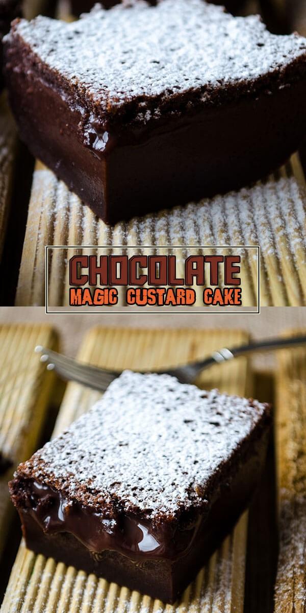 CHOCOLATE MAGIC CUSTARD CAKE #Cakerecipes