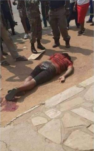 Shock As Soldier Shoots A Man In Broad Daylight For Not Wearing A Face Mask (Photos) #Arewapublisize