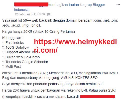 Peringkat situs tertinggi bukan karena kuantitas backlink