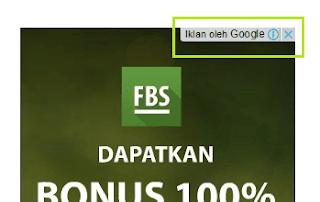 Tampilan iklan Google AdSense