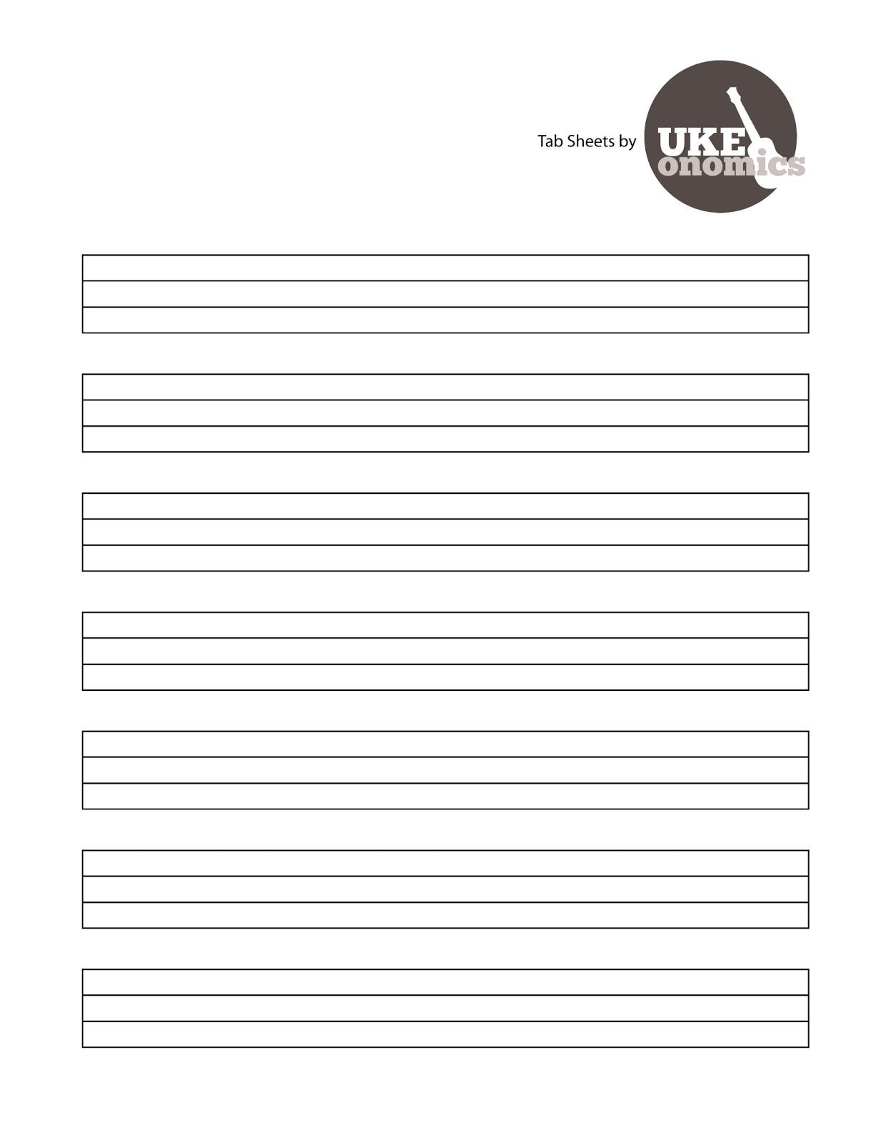 Guitar Blank Sheet Music Free Download