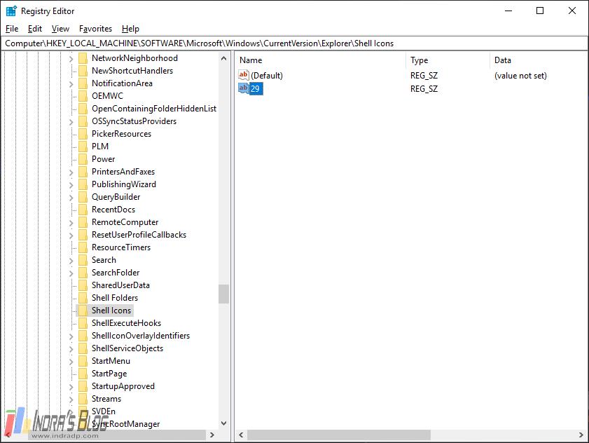 Cara Menghilangkan Tanda Panah di Icon Shortcut Windows 10 Tanpa Aplikasi