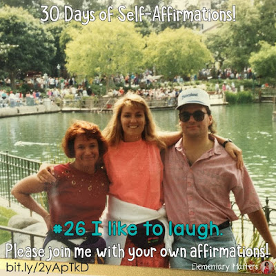 "30 Days of Self-Affirmations: Day 16: I like to laugh! For 30 days, I will be celebrating my own ""new year"" with self-affirmations. If you are interested in joining me, feel free to write your own affirmations here, or respond on my social media here: http://bit.ly/2JuKRWa"