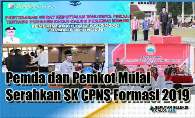 Pemda dan Pemkot Mulai Serahkan SK CPNS Formasi 2019