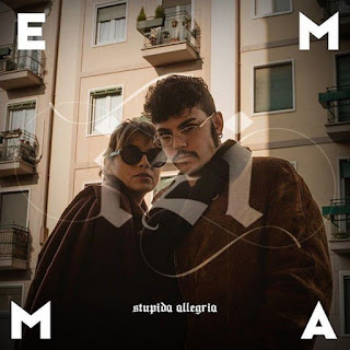 """Copertina di """"Stupida Allegria"""", la versione remix di Emma Marrone e IZI."""
