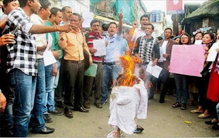 Protest Demonstration by voluntary teachers in Darjeeling hills