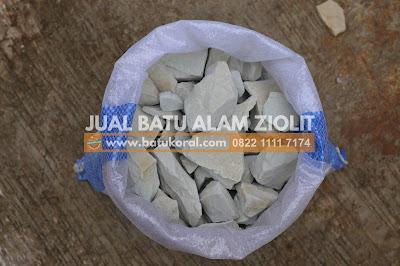 batu zeolit per karung murah
